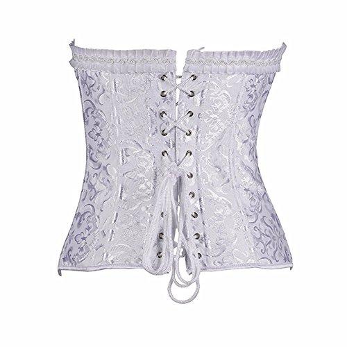 Yall gebündelt Kleidung Slim Steel Jacquard Korsett White