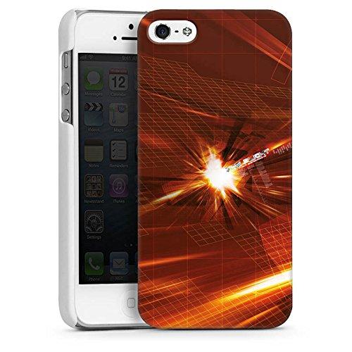 Apple iPhone 5s Housse Étui Protection Coque Lumière Explosion Motif CasDur blanc