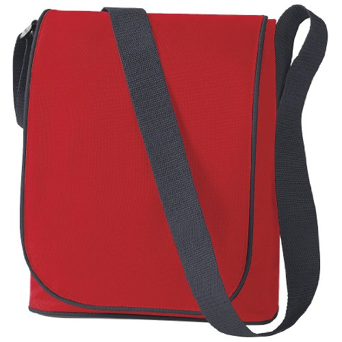 BagBase Messenger-Tasche / Umhängetasche Metro, 2 Liter Rot/Grau