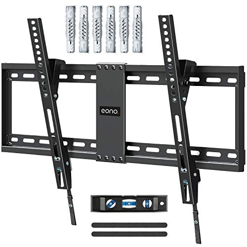 Eono by Amazon - TV Wandhalterung Neigbar, Fernseher Wandhalterung für viele 37-70 Zoll LED, LCD, OLED TVs mit VESA 200x100-600x400mm bis zu 60kg, Neigbare TV Halterung inkl. Fischer Dübel