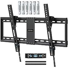 Eono by Amazon - Supporto TV Parete Inclinabile, Staffa TV per Molti Televisori da 37-70 Pollici a LED, LCD, OLED, Plasma Fino a 60kg, Max. VESA 600x400mm, Con Tasselli Fischer, PL2268-LK