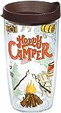 Tervis 1218220Happy Camper Tumbler mit Wrap und braun Deckel Klauenhammer, transparent