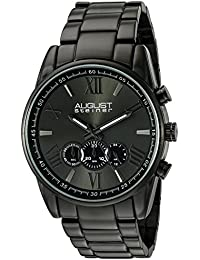 August Steiner Reloj con movimiento Miyota Man AS8163BK 46 mm