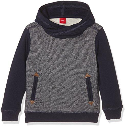 s.Oliver Jungen Sweatshirt 63.610.41.5795, Blau (Dunkel Zyan Aop 58A7), 128 (Herstellergröße: 128/134)