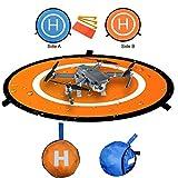 RC Drone Landing Pad, Diamètre 55cm Tapis de lancement pliable Helipad Dronepad pour DJI Phantom / Spark / Mavic Pro