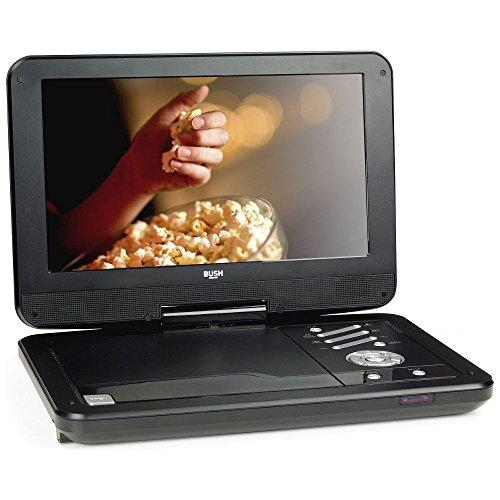 BUSH 30,5cm Bildschirm Tragbarer DVD-Player Drehstuhl, schwarz (integrierte Wiederaufladbare Akku mit 3Stunden Akku Life)