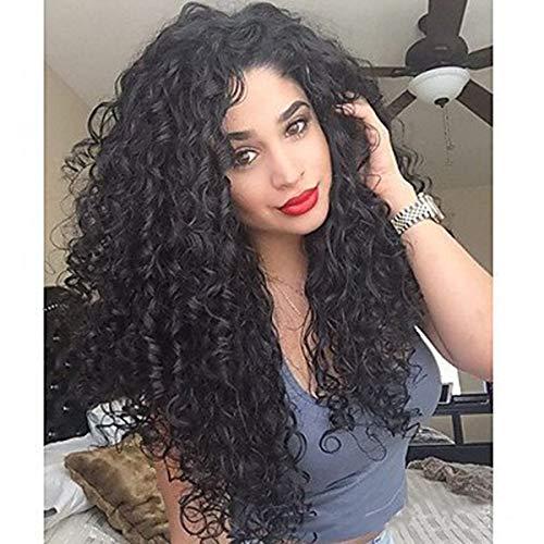 kige synthetische Keine Spitzeperücken Schwarze Haarfarbe für Mode Frauen ()