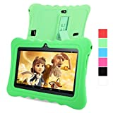 GBtiger L701 Kinder PC Tablet 7 Zoll (Android 4.4 Quad-Core 1,3 GHz, 512 MB RAM + 8GB ROM, HD-Auflösung von 1024 x 600, WiFi, GPS, Bluetooth) (Schwarz, Grün Schale)