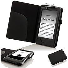 Forefront Cases® E-reader Kindle, pantalla táctil antirreflejos de 6'' (15,2 cm), Wi-Fi (generación anterior - 7ª) Funda Carcasa Stand Smart Case Cover Protectora Plegable de Cuero con la luz LED de Lectura