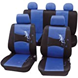 Cartrend 60220, Cartrend 60220 Gecko Mesh Seat cover complete set, blue, with docu seam (Automotive)