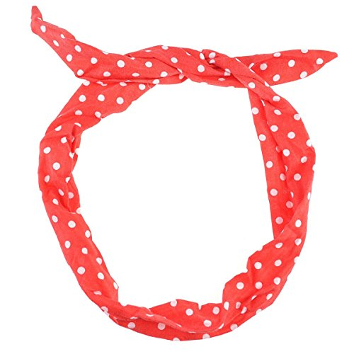 Cloud 9Damen Stirnband Small Dot-Red (Dot Polka Satin)