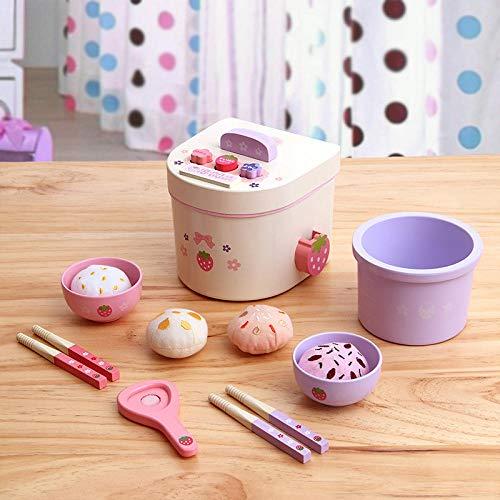 hongge Holzhaus Kinderküche Kochen Kochen Mahlzeit Küchengeschirr Mini Reiskocher Reiskocher Spielzeug - Mini Reiskocher