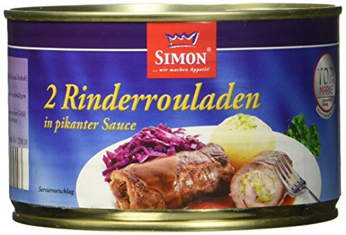 Werner Simon Rindsroulade 2 Stück, 6er Pack (6 x 400 g Dose)