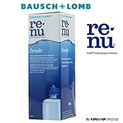 Bausch & Lomb Renu Solution 120ml for Contact Lens By Visions India (Pack of 1 Solution)