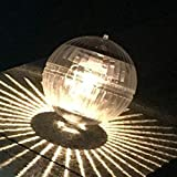 Schwimmendes Solar-Teichlicht, schwimmende Lichter, Hängende Kugelleuchte mit Farbwechsel-Nachtlicht, wasserdicht, für Schwimmbad, Teich, Garten, Party, Heimdekoration (Warmgelb)