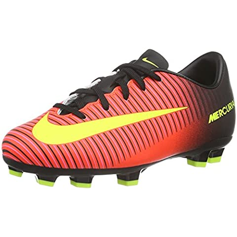 Nike Unisex – Bimbi 0-24 Jr Mercurial Vapor XI FG scarpe da calcio, Arancione (Naranja (Total Crimson / Vlt-Blk-Pnk Blst)), 28 EU