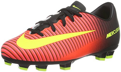 Nike Unisex - Bimbi 0-24 Jr Mercurial Vapor XI FG scarpe da calcio, Arancione (Naranja (Total Crimson / Vlt-Blk-Pnk Blst)), 36 EU