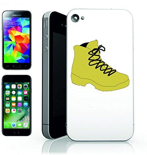 Smartphone Case Scarpa di Escursione della Barca di Esercito di lacci marrone giallo per Apple Iphone 4/4S, 5/5S, 5C, 6/6S, 7& Samsung Galaxy S4, S5, S6, S6Edge, S7, S7Edge Huawei HTC–Divertim