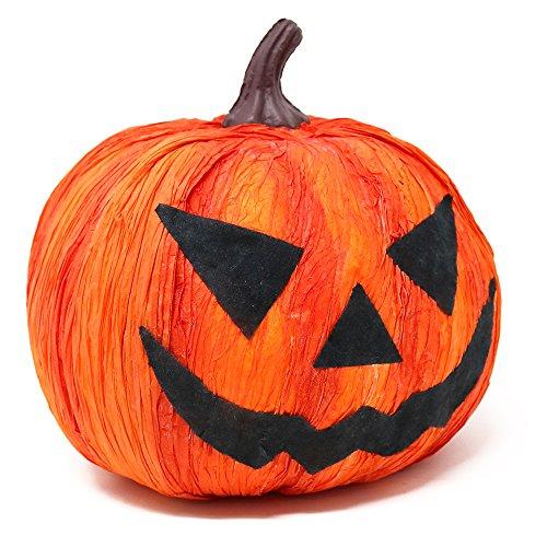 com-four® Calabaza de Halloween Decorativa, decoración de Calabaza de Miedo, 18 x 18 cm (01 Pieza - Calabaza 18 cm)