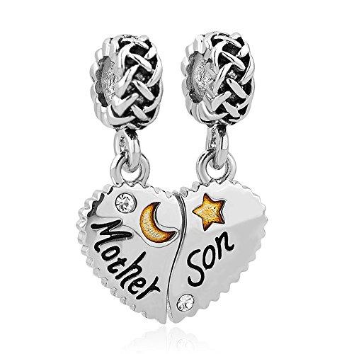 Uniqueen, mum charm, pendente per la mamma, per braccialetto con ciondoli e rame, cod. uq_dpc_my803_2
