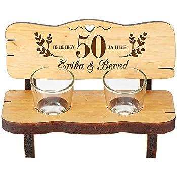schnapsbank mit zwei schnapsgl sern geschenk zur silberhochzeit mit individueller gravur. Black Bedroom Furniture Sets. Home Design Ideas