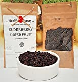 Holunderbeeren Getrocknet (Sambucus nigra) 50g / Elderberry Dried Fruit 50g - Health Embassy - 100% Natural