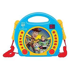 Lexibook- Disney Toy Story 4, Woody, Buzz & Forky Reproductor CD con 2 micrófonos Integrados, Función de programación, Toma de Auriculares, para niños, Azul, RCDK100TS, Color