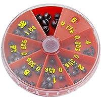 Sodial(R) - Scatola di piombi spaccati per la pesca, 7