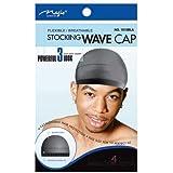 Magic Stocking Wave Cap Pack 2 Caps Black Hair Du Rag by MAGIC