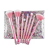 7 Stück Mode Kristall Glitter Diamant Make-up Pinsel Set Foundation Kosmetik Pinsel Werkzeuge-Pink