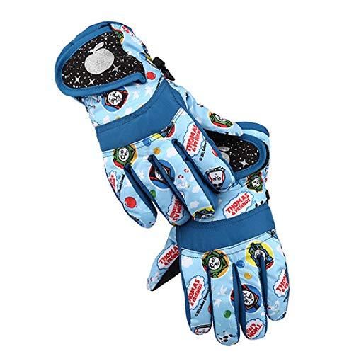 SUNHAO Kinderhandschuhe alle Finger Winter Skihandschuhe wasserdicht verdickend Cartoon Jungen und Mädchen warme Reithandschuhe