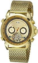 Comprar Aatos AgabusGGG - Reloj de caballero automático, caja y correa de acero inoxidable bañado en oro