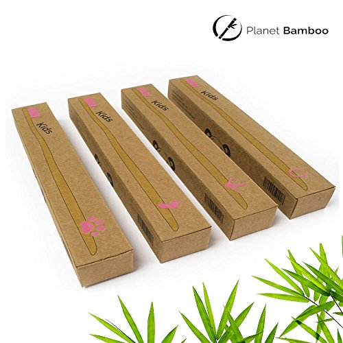 Planet Bamboo Bambus Zahnbürste für Kinder (4 Stück) - 2