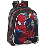 Spiderman - Mochila infantil adaptable, 27 x 33 cm (Safta 611512524)