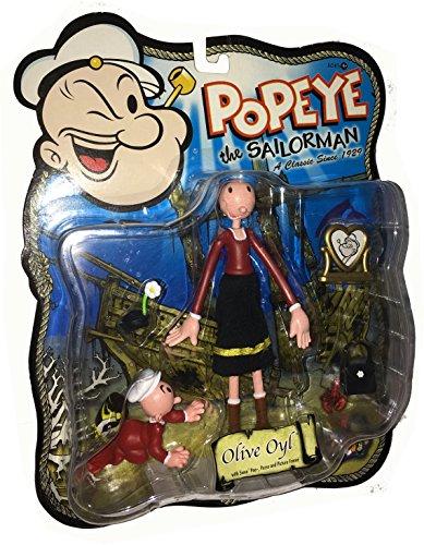 POPEYE the Sailorman Classiv TV Actionfiguren Reihe: OLIVE OYL mit Swee' - Cartoon Oyl Olive Popeye