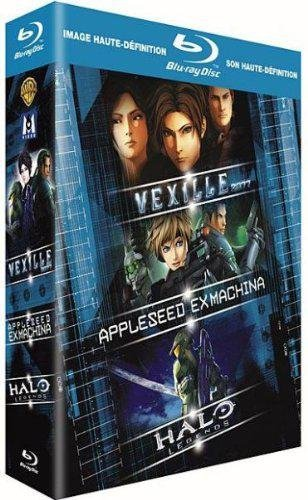 Coffret japanim : vexille ; appleseed ex machina ; halo legends [Blu-ray] [FR Import]