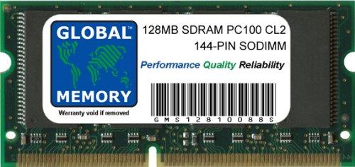 GLOBAL MEMORY 128MB PC100 100MHz 144-PIN SDRAM SODIMM ARBEITSSPEICHER RAM FÜR NOTEBOOKS -