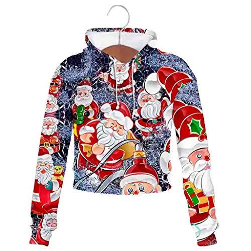Leeafly Sweatshirt Langarm Schneemann Drucken, Damenmode Weihnachten Funny Printed Tops Design Langarm Loose Sweatshirt, 2019 Damen Kleidung Weihnachtspullover