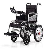 EMOGA Elektrischer Rollstuhl, Intelligente Automatische Elektrorollstuhl,Aluminiumlegierung Faltbar Tragbare, Frei-Reiten, Rollstuhl,Black