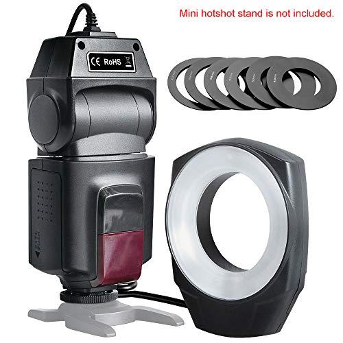 QYRL Makro Ringblitz Speedlite Gn10 Mit 6 Objektiv Adapterringe Für Canon Nikon Pentax Olympus Sony Kameras
