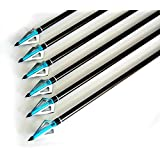 """Buffalo Premium 31"""" Fiberglass Target Hunting Arrows with Screw-in Sharp Arrowheads & 3"""" Vanes for Compound Bow Or Traditional Bow 6PK"""
