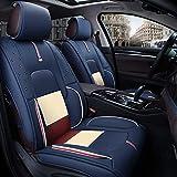 Autositzbezug Autositzschutz Ledersitzbezüge Full Set - für 5 Sitze Auto Automotive Universal Fit Sitzbezüge Sitzkissenbezug oder Rundum-Einsatz Autositzmatte Pad (Farbe : Blue B)