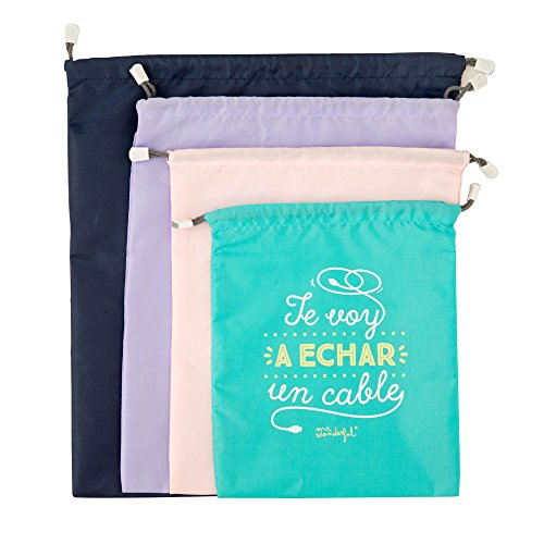 Mr Wonderful WOA08514ES Pack de bolsas bonitas para viajar