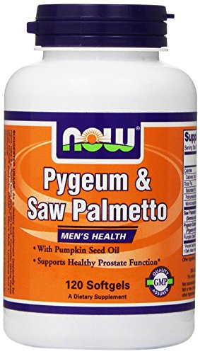 Now Foods, Pygeum e Saw Palmetto, Salute degli uomini - Softgels X120