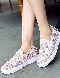 ZQ gyht Zapatos de mujer-Plataforma-Plataforma / Comfort-Mocasines-Exterior / Vestido / Casual-Semicuero-Negro...