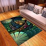 Rechteck Teppich Teppichbeläge Große Matte für Zuhause Wohnzimmer Sofa Boden Dekoration Einzigartige Notre Dame de Paris Design Hotel Boden Anti Rutsch TeppichMehrfarben D,120x160CM