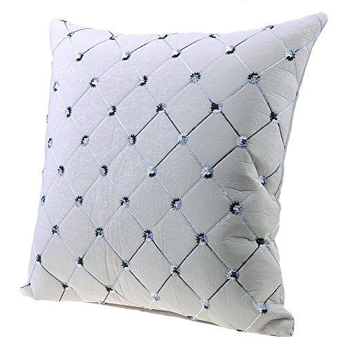 Kissenhülle Sofa Kissenbezug Dekokissen Hülle für Ihr Sofa Sessel Autositz Bett Rückenkissen, 45x45 cm, Polyester (Silber)