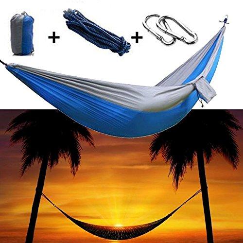 HQS® Genießen Sie den tragbaren Parachute Nylongewebe -Reisen Camping Hammock Für Doppel Zwei - 5