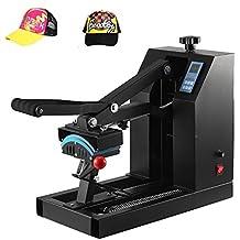 Autovictoria Heat Press 17 x 7cm Elemento curvado Presione la prensa del calor del diseño de la prensa de la prensa para los sombreros Marco de acero rígido ...
