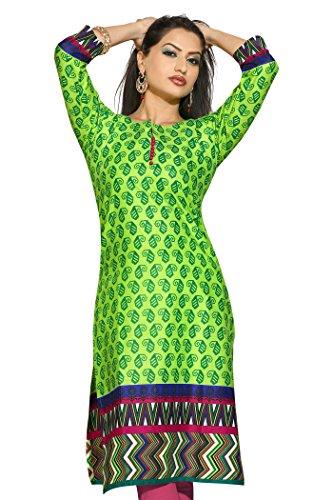 Long Pakistani Cotton Silk Fancy Kurtis (Size